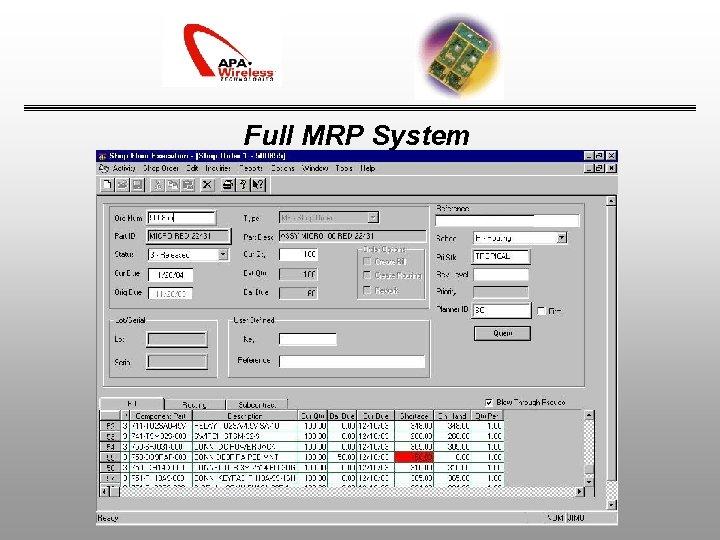Full MRP System
