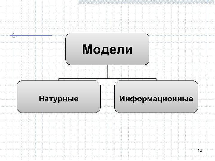Модели Натурные Информационные 10