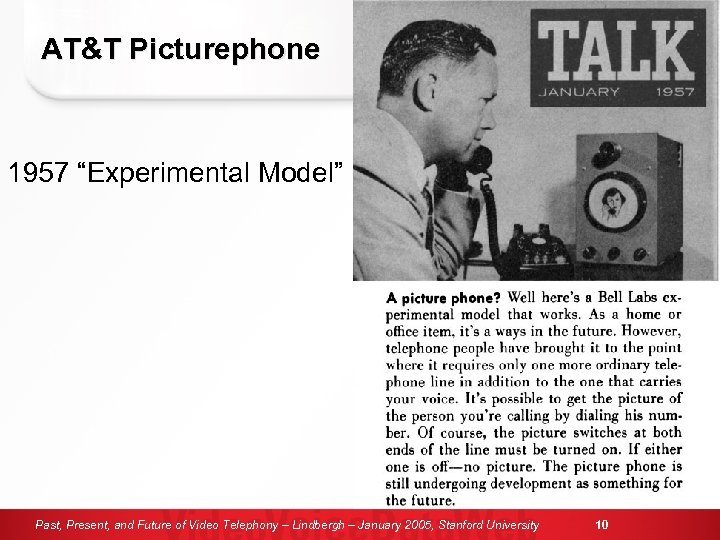 "AT&T Picturephone 1957 ""Experimental Model"" Past, Present, and Future of Video Telephony – Lindbergh"