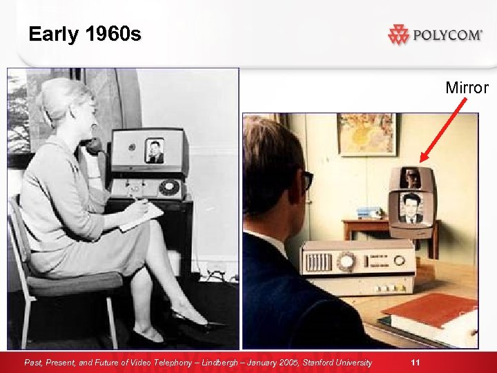 Early 1960 s Mirror Past, Present, and Future of Video Telephony – Lindbergh –
