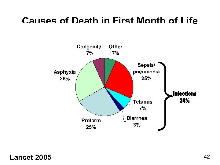 Causes of Death in First Month of Life Lancet 2005 42