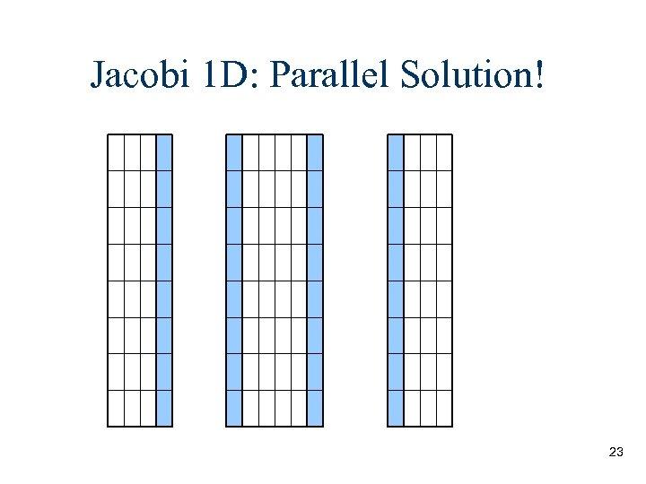 Jacobi 1 D: Parallel Solution! 23