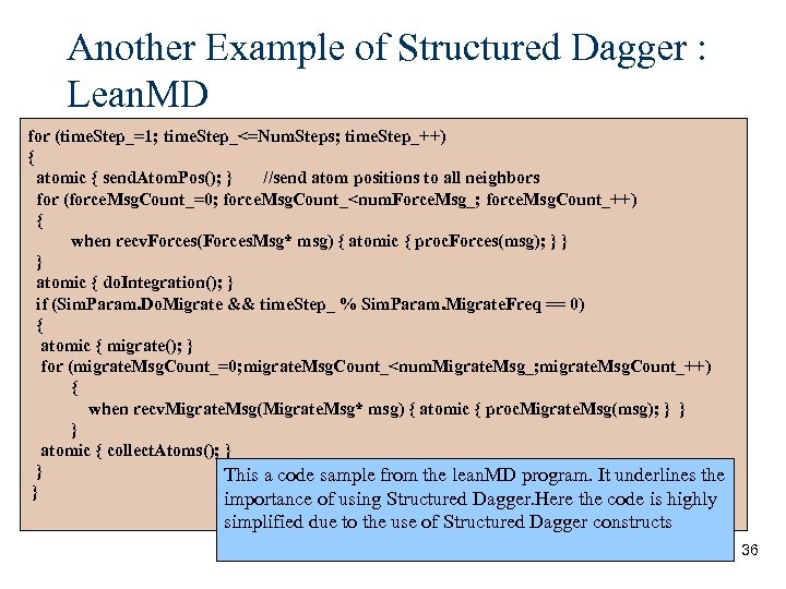 Another Example of Structured Dagger : Lean. MD for (time. Step_=1; time. Step_<=Num. Steps;