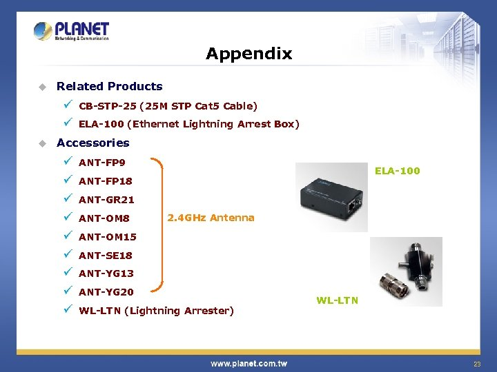 Appendix u Related Products ü ü u CB-STP-25 (25 M STP Cat 5 Cable)