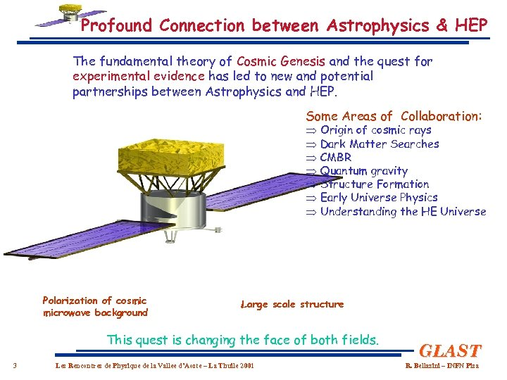 Profound Connection between Astrophysics & HEP The fundamental theory of Cosmic Genesis and the