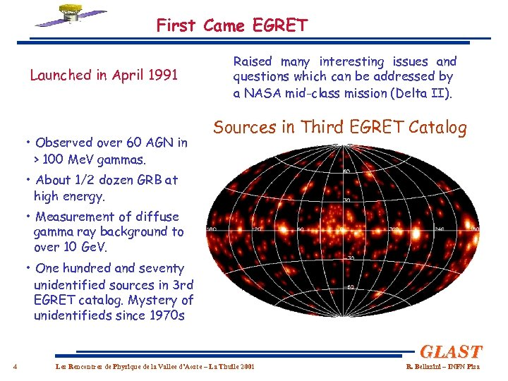 First Came EGRET Launched in April 1991 • Observed over 60 AGN in >