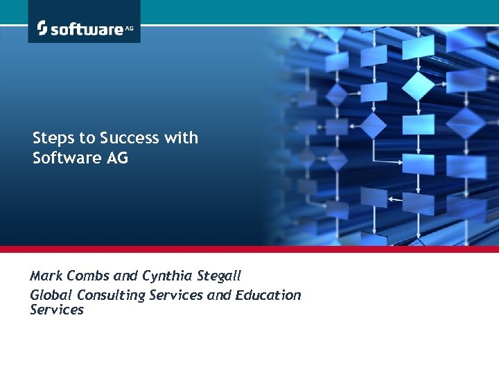 Steps to Success with Software AG Mark Combs and Cynthia Stegall Global Consulting Services