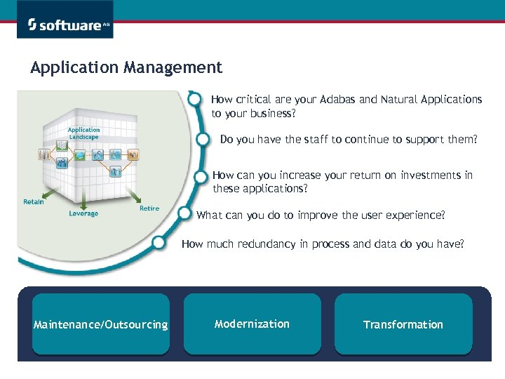 Application Management How critical are your Adabas and Natural Applications to your business? Do