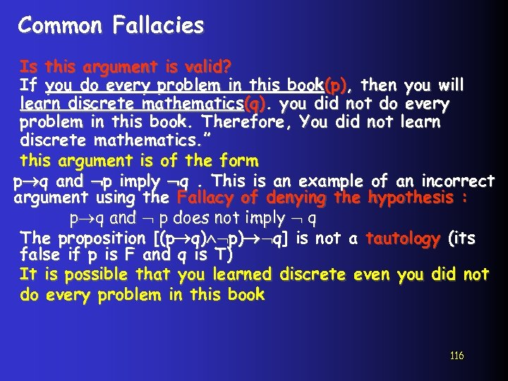 Common Fallacies Is this argument is valid? If you do every problem in this
