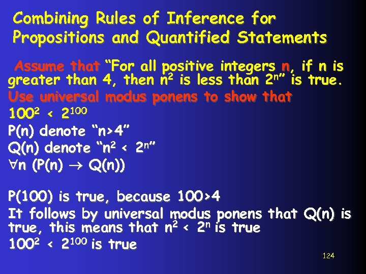"""Combining Rules of Inference for Propositions and Quantified Statements Assume that """"For all positive"""