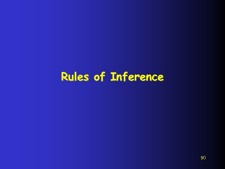 Rules of Inference 90