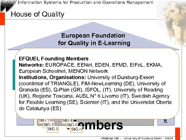 Information Systems for Production and Operations Management House of Quality University Duisburg. Essen, Germany