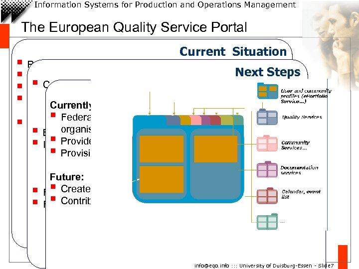 Information Systems for Production and Operations Management The European Quality Service Portal Current Situation