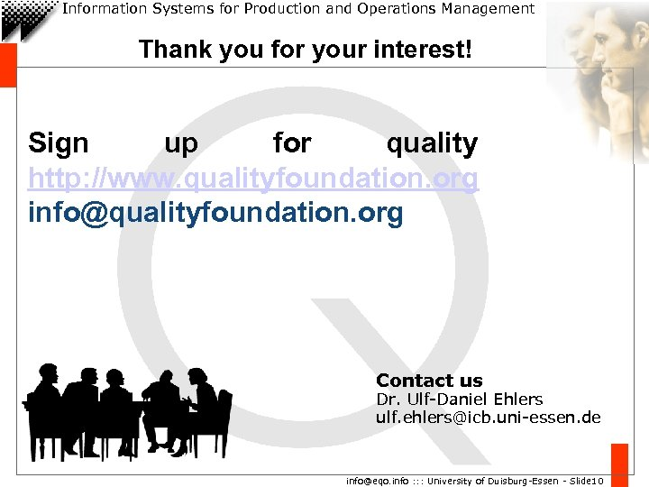 Information Systems for Production and Operations Management Thank you for your interest! Sign up