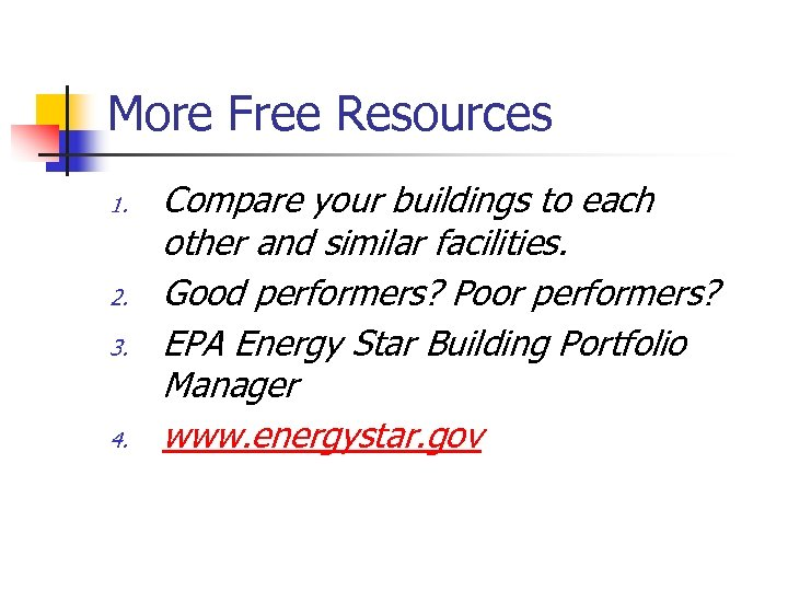More Free Resources 1. 2. 3. 4. Compare your buildings to each other and
