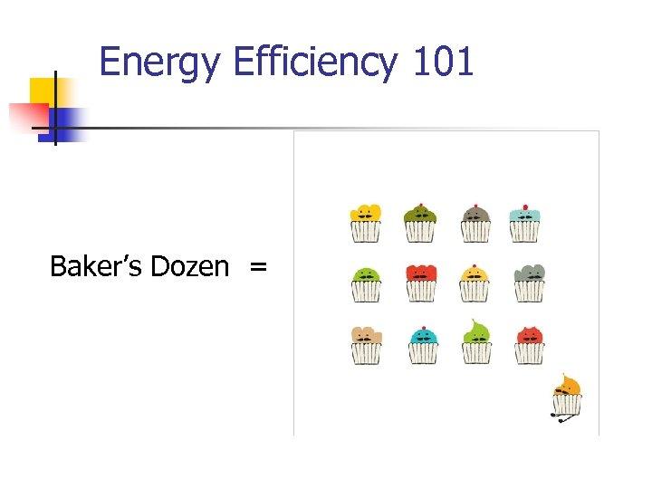 Energy Efficiency 101 Baker's Dozen =