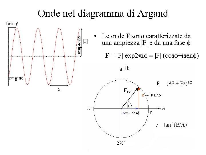 Onde nel diagramma di Argand • Le onde F sono caratterizzate da una ampiezza