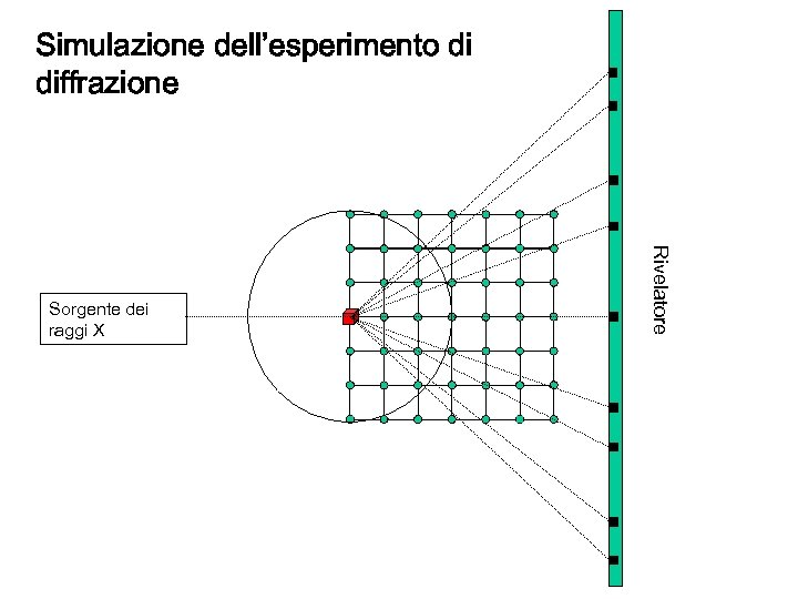 Simulazione dell'esperimento di diffrazione Rivelatore Sorgente dei raggi X