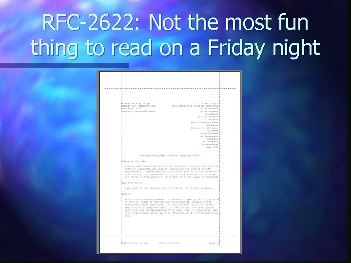 RFC-2622: Not the most fun thing to read on a Friday night