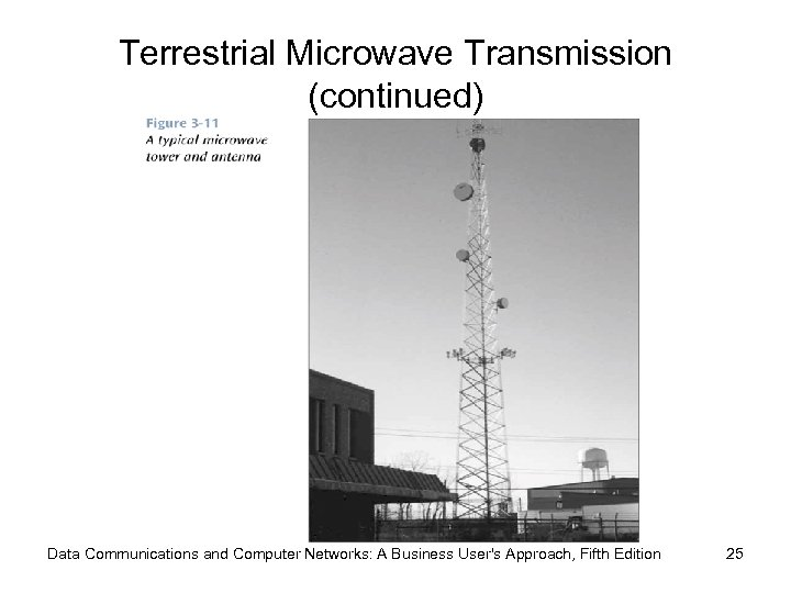 Terrestrial Microwave Transmission (continued) Data Communications and Computer Networks: A Business User's Approach, Fifth