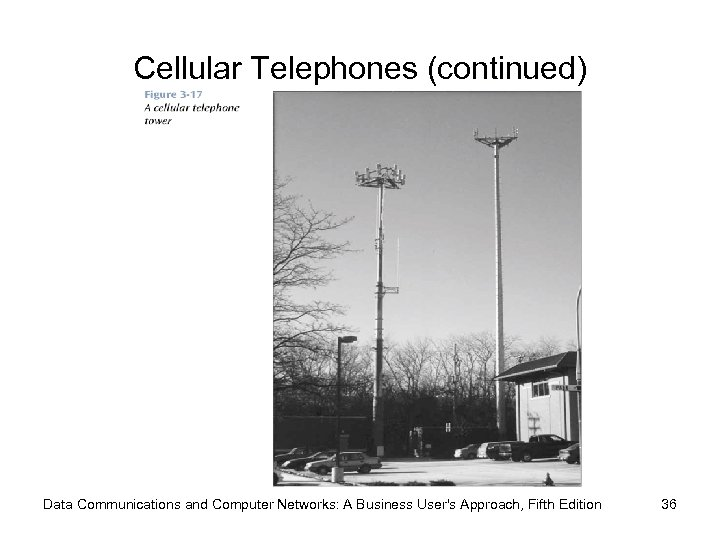 Cellular Telephones (continued) Data Communications and Computer Networks: A Business User's Approach, Fifth Edition