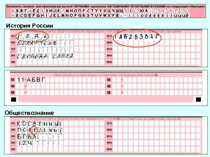 История России 11 АБВГ Обществознание