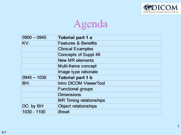 Agenda 5 KV