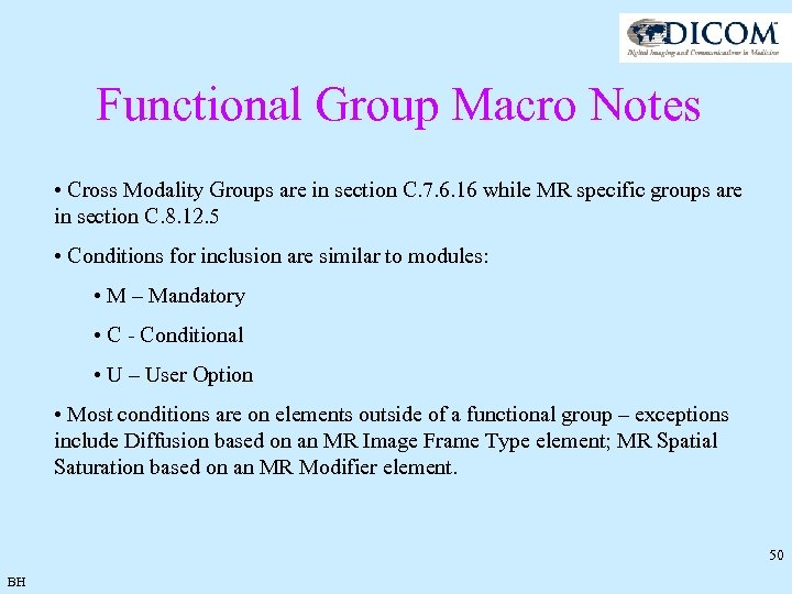 Functional Group Macro Notes • Cross Modality Groups are in section C. 7. 6.