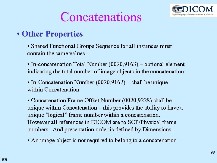 Concatenations • Other Properties • Shared Functional Groups Sequence for all instances must contain