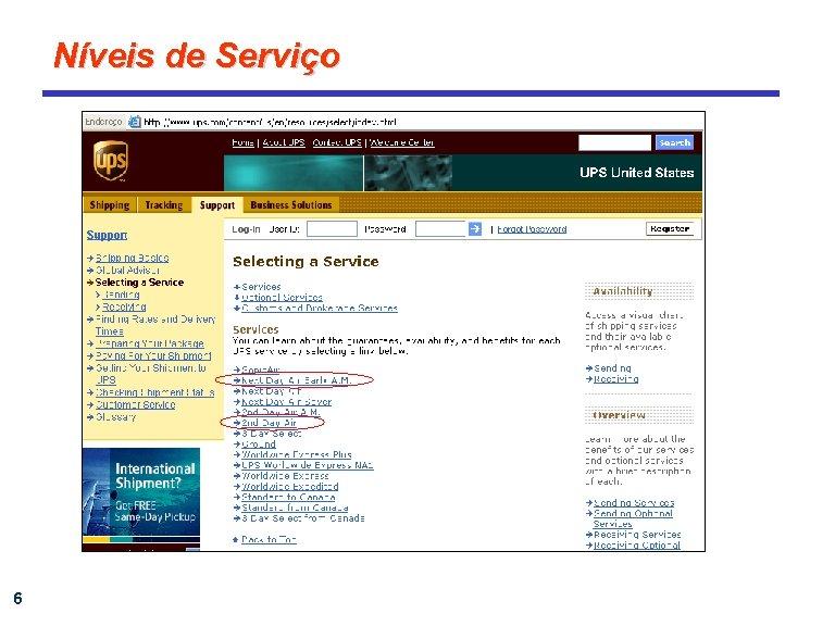 Níveis de Serviço 6