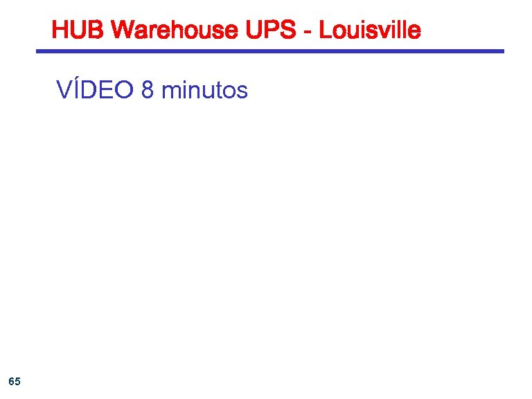 HUB Warehouse UPS - Louisville VÍDEO 8 minutos 65