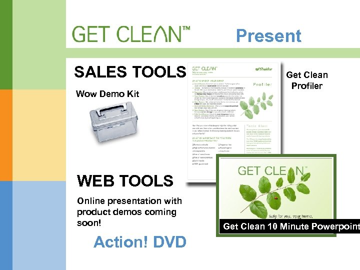 Present SALES TOOLS Wow Demo Kit Get Clean Profiler WEB TOOLS Online presentation with