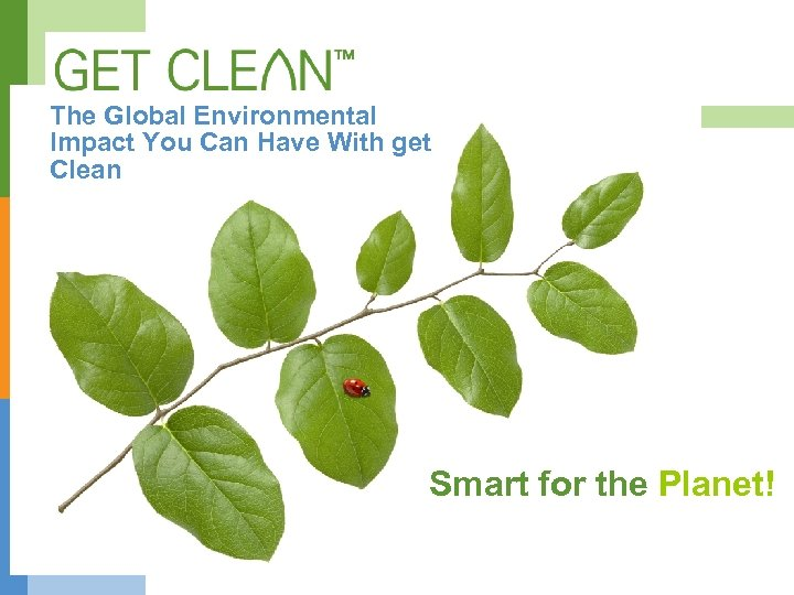 The Global Environmental Impact You Can Have With get Clean Smart for the Planet!