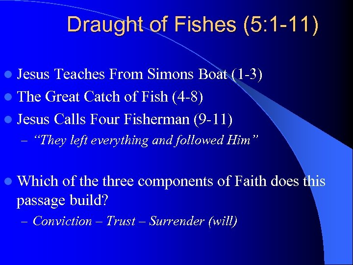 Draught of Fishes (5: 1 -11) l Jesus Teaches From Simons Boat (1 -3)