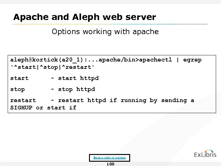 Apache and Aleph web server Options working with apache aleph@kortick(a 20_1): . . .