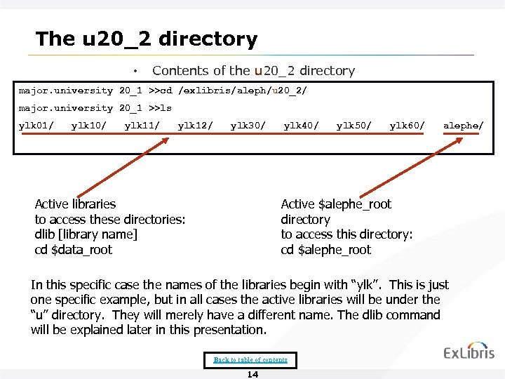 The u 20_2 directory • Contents of the u 20_2 directory major. university 20_1