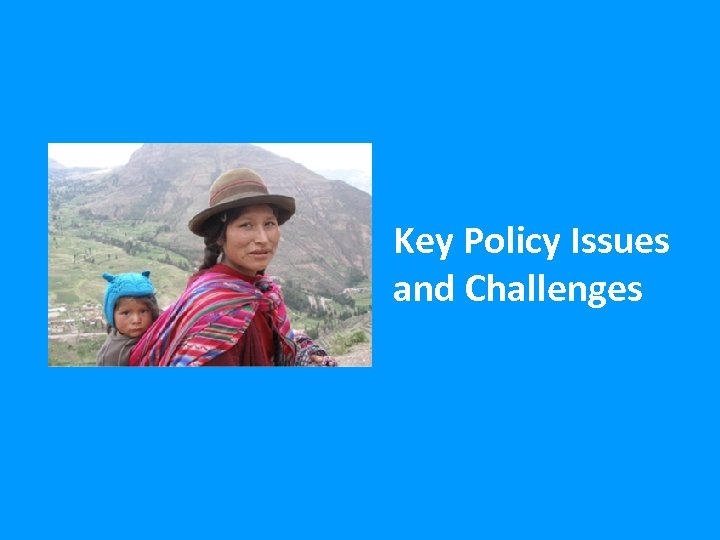 Key Policy Issues and Challenges 24