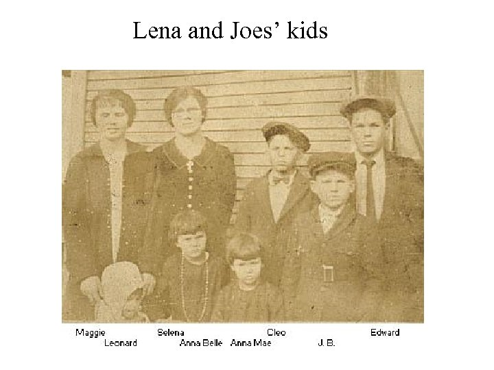 Lena and Joes' kids