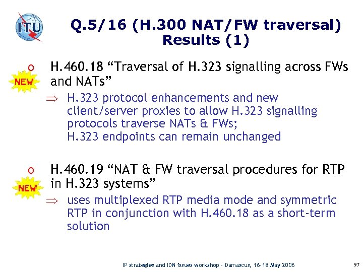 "Q. 5/16 (H. 300 NAT/FW traversal) Results (1) o H. 460. 18 ""Traversal of"
