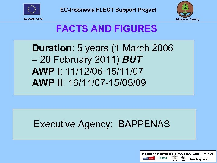 EC-Indonesia FLEGT Support Project European Union Ministry of Forestry FACTS AND FIGURES Duration: 5