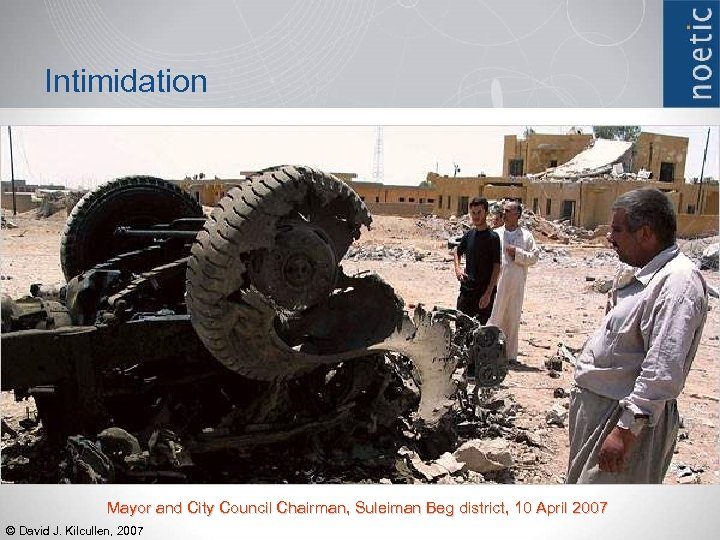 Intimidation Mayor and City Council Chairman, Suleiman Beg district, 10 April 2007 © David
