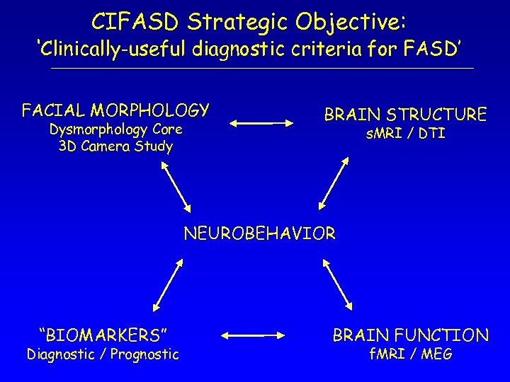 CIFASD Strategic Objective: 'Clinically-useful diagnostic criteria for FASD' FACIAL MORPHOLOGY Dysmorphology Core 3 D