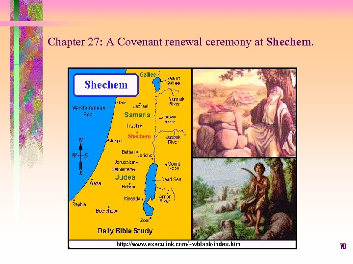 Chapter 27: A Covenant renewal ceremony at Shechem. 70