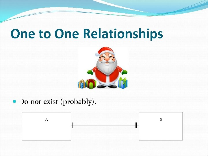 One to One Relationships Do not exist (probably). A B