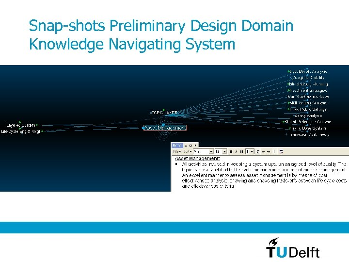 Snap-shots Preliminary Design Domain Knowledge Navigating System