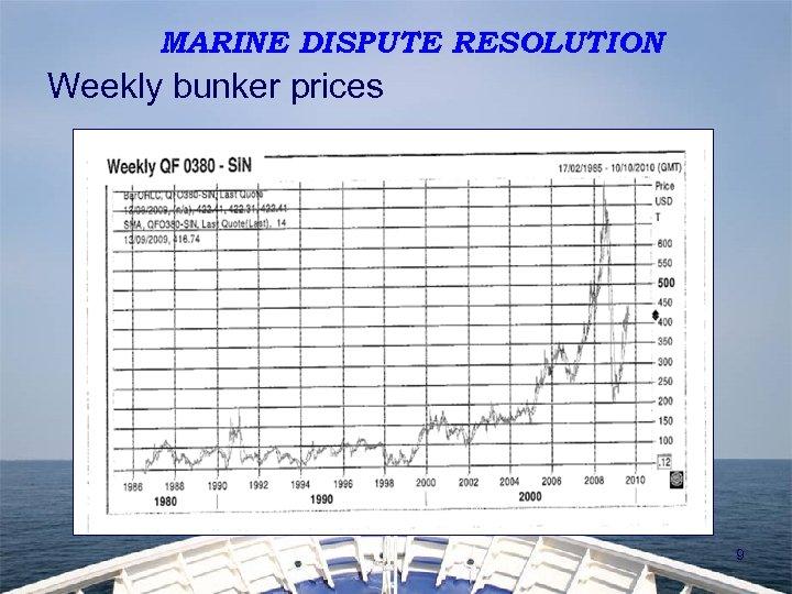 MARINE DISPUTE RESOLUTION Weekly bunker prices 9