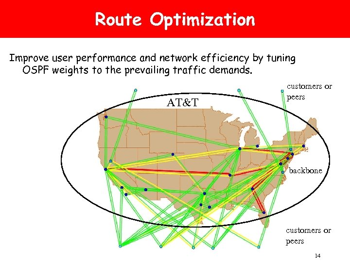 Route Optimization Improve user performance and network efficiency by tuning OSPF weights to the
