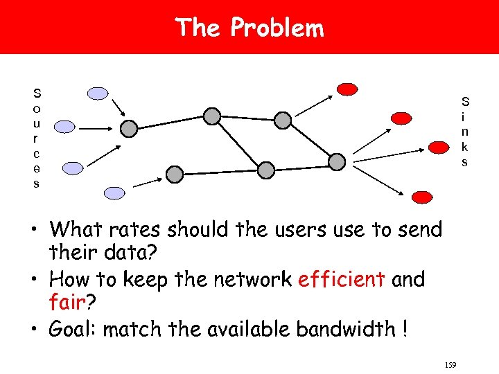 The Problem S o u r c e s S i n k s