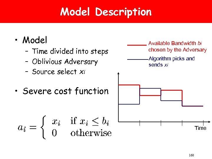Model Description • Model – Time divided into steps – Oblivious Adversary – Source