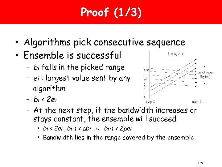 Proof (1/3) • Algorithms pick consecutive sequence • Ensemble is successful – bi falls